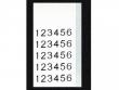 1: Robuste Nylongewebe Etiketten (B-499)